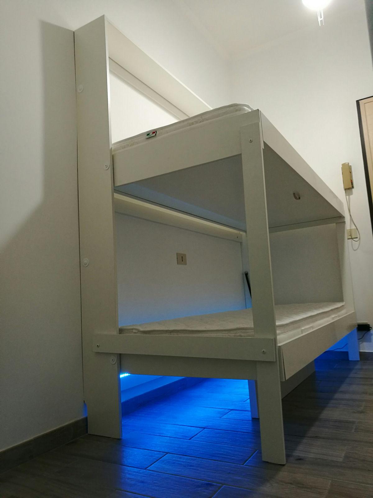 Letto a scomparsa a castello consolle doppia bed for Letto a castello basso