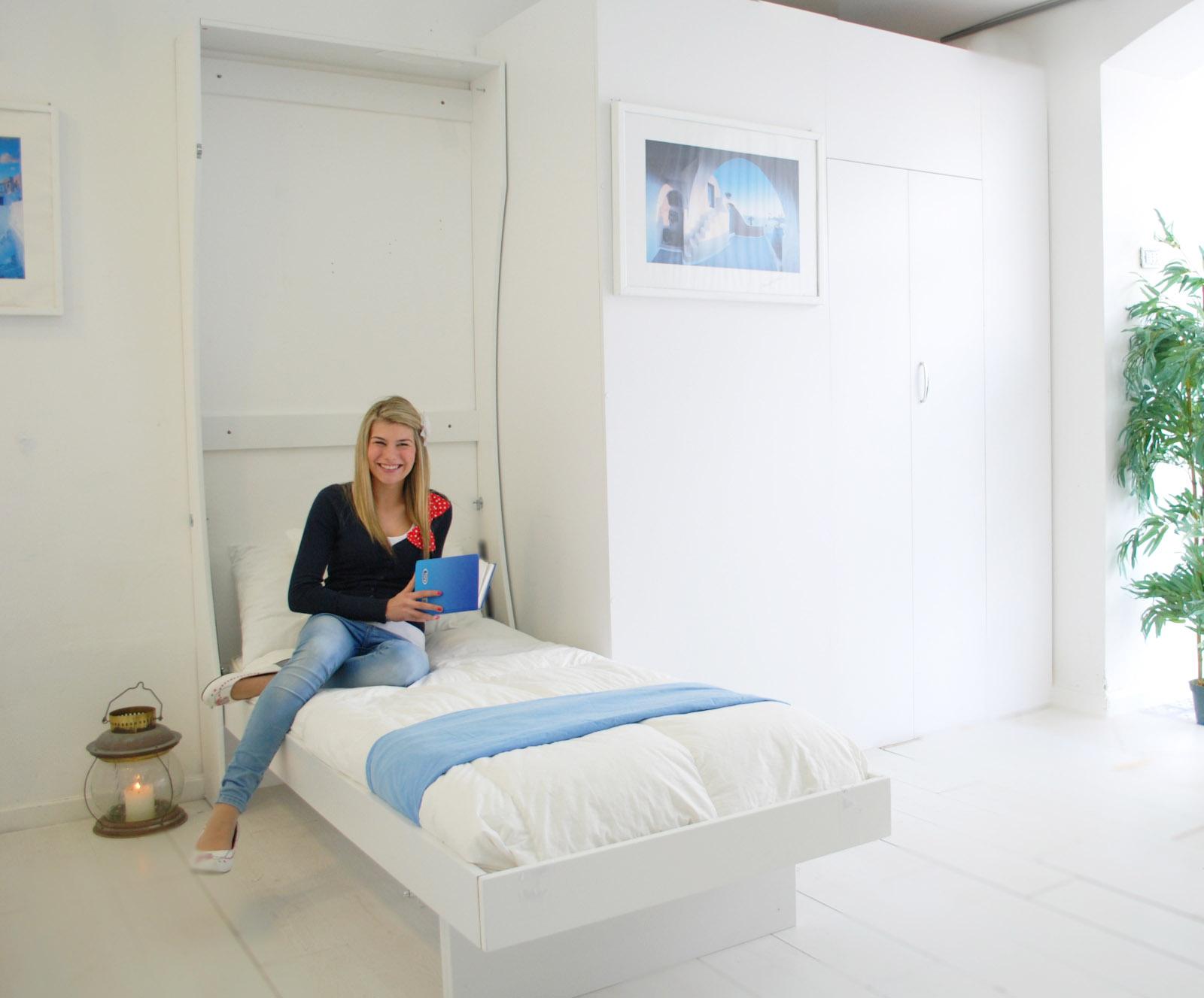 Emejing letto a parete gallery - Letto a parete ribaltabile ...