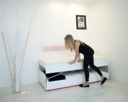 Divano letto a castello, salvaspazio disponibile anche in modello divano letto estraibile