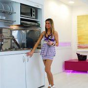 Cucina a scomparsa da 125 cm