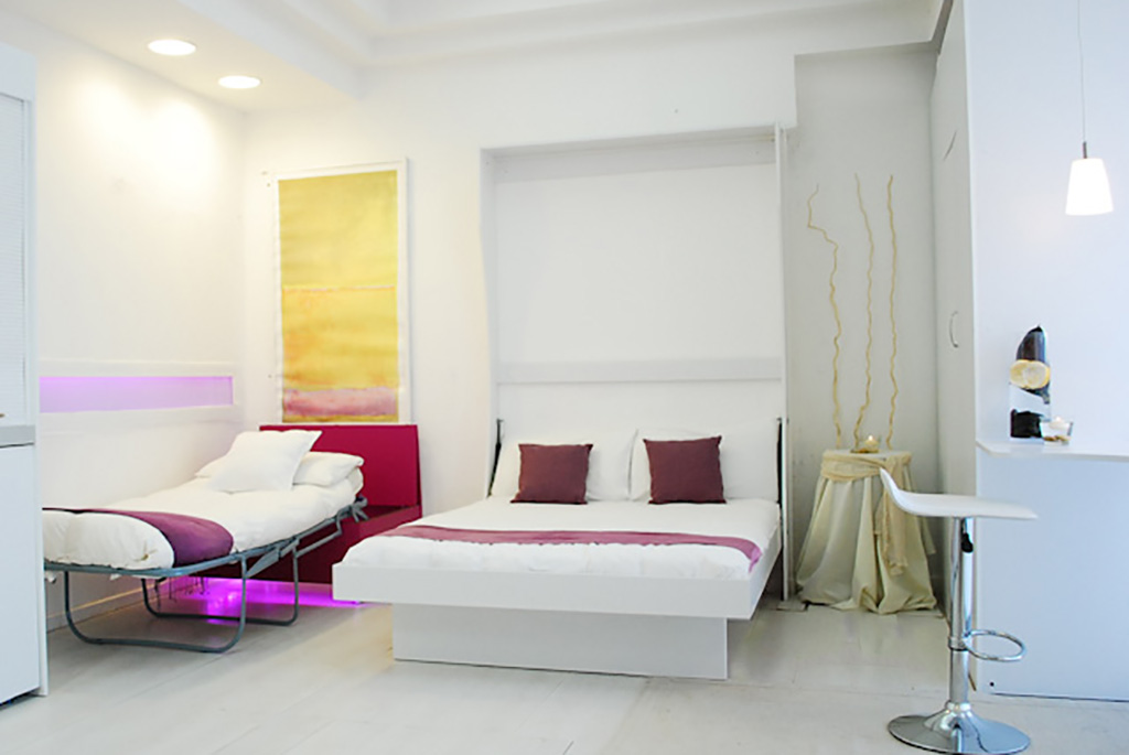 Letto a scomparsa tavolino bed 39 vivilospazio mobili - Cuscini lunghi per letto ...