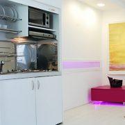 Monoblocco cucina salvaspazio, aperto