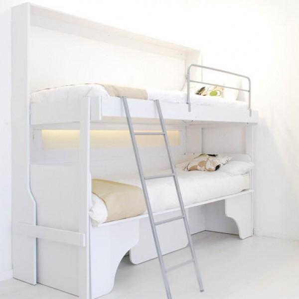 letto soppalco a parete aperto