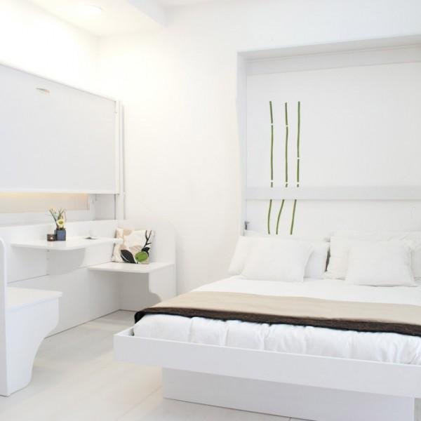 letti salvaspazio a scomparsa integrati nel design della camera