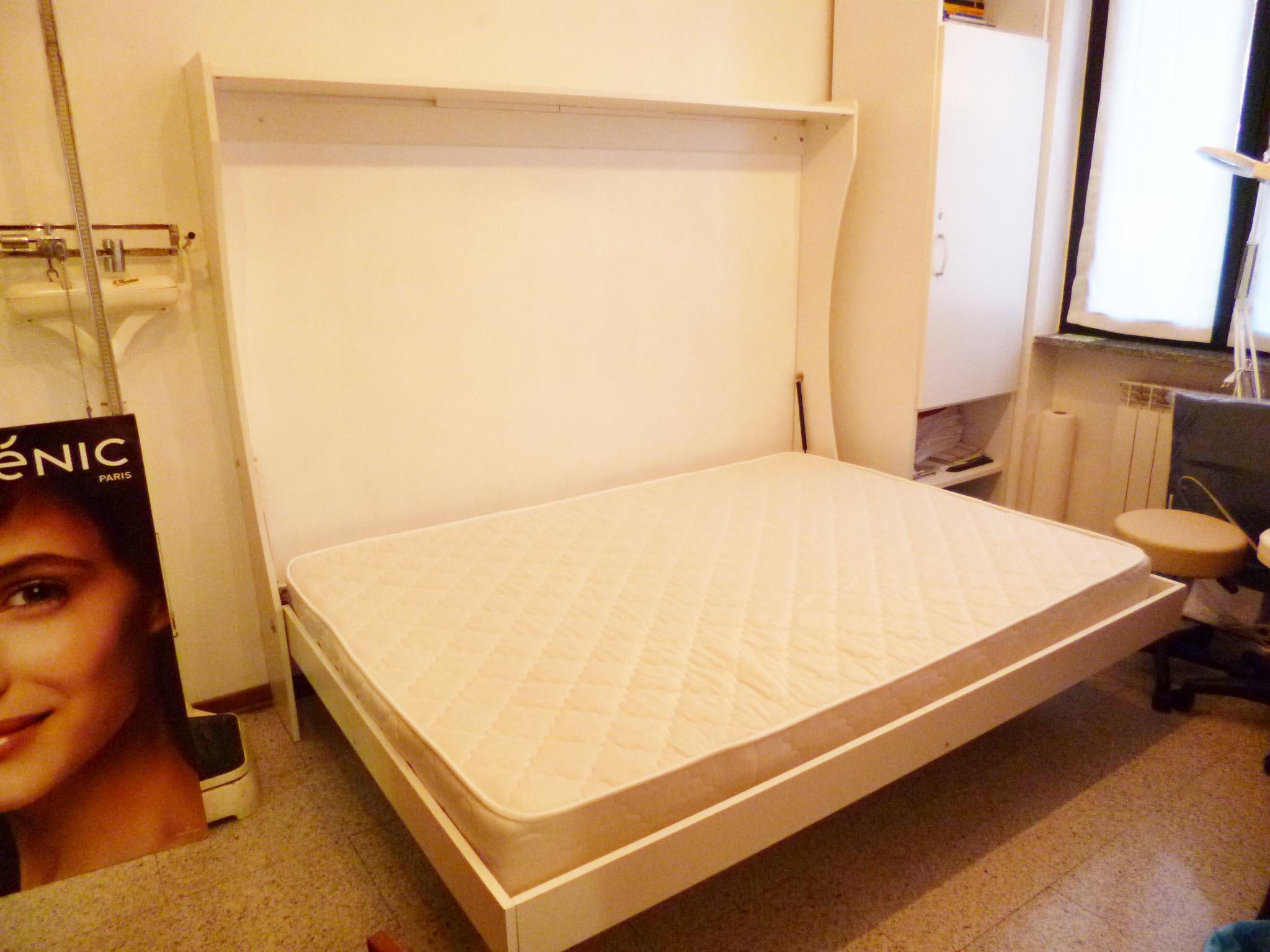 Letto a parete una piazza e mezza consolle bed vivilospazio mobili trasformabili - Misura letto una piazza e mezza ...