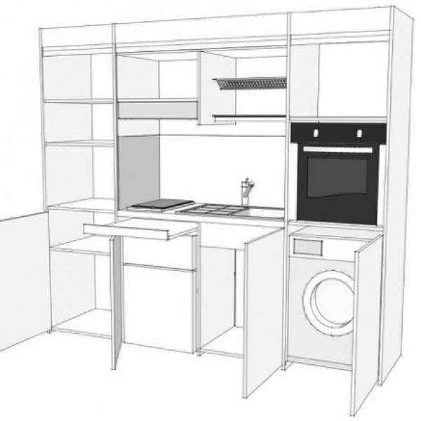Cucina Compatta - Compact art. 247 con ante a libro - vivilospazio ...