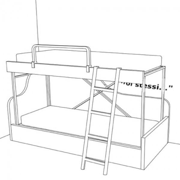 fornitura gratuita della decorazione adesiva dello stesso stile del divano letto a castello