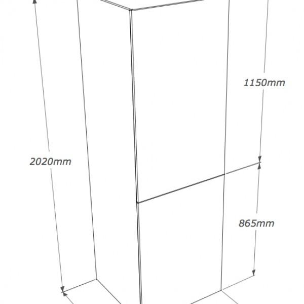 colonna frigo con ripiani dispensa