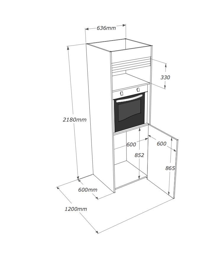 Cucina armadio compact con colonna non hai bisogno di - Larghezza mobili cucina ...