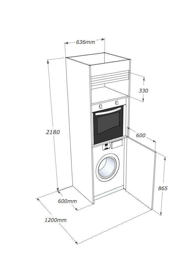 Cucina armadio compact con colonna non hai bisogno di - Lavatrice in cucina ...