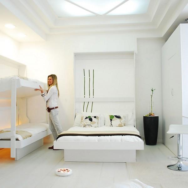 Letto a castello letto matrimoniale a parete vivilospazio mobili trasformabili - Letto a parete a scomparsa ...