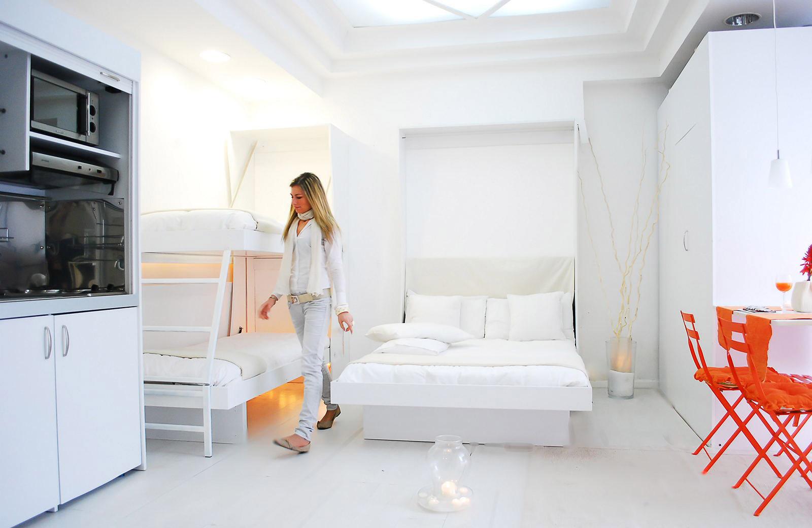 cucina armadio 125 abbinata al letto matrimoniale e letto
