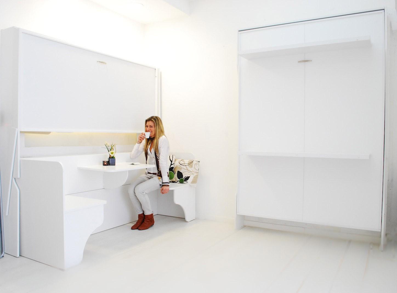 Letto soppalco letto scrivania letto matrimoniale a - Letti a scomparsa a parete ...