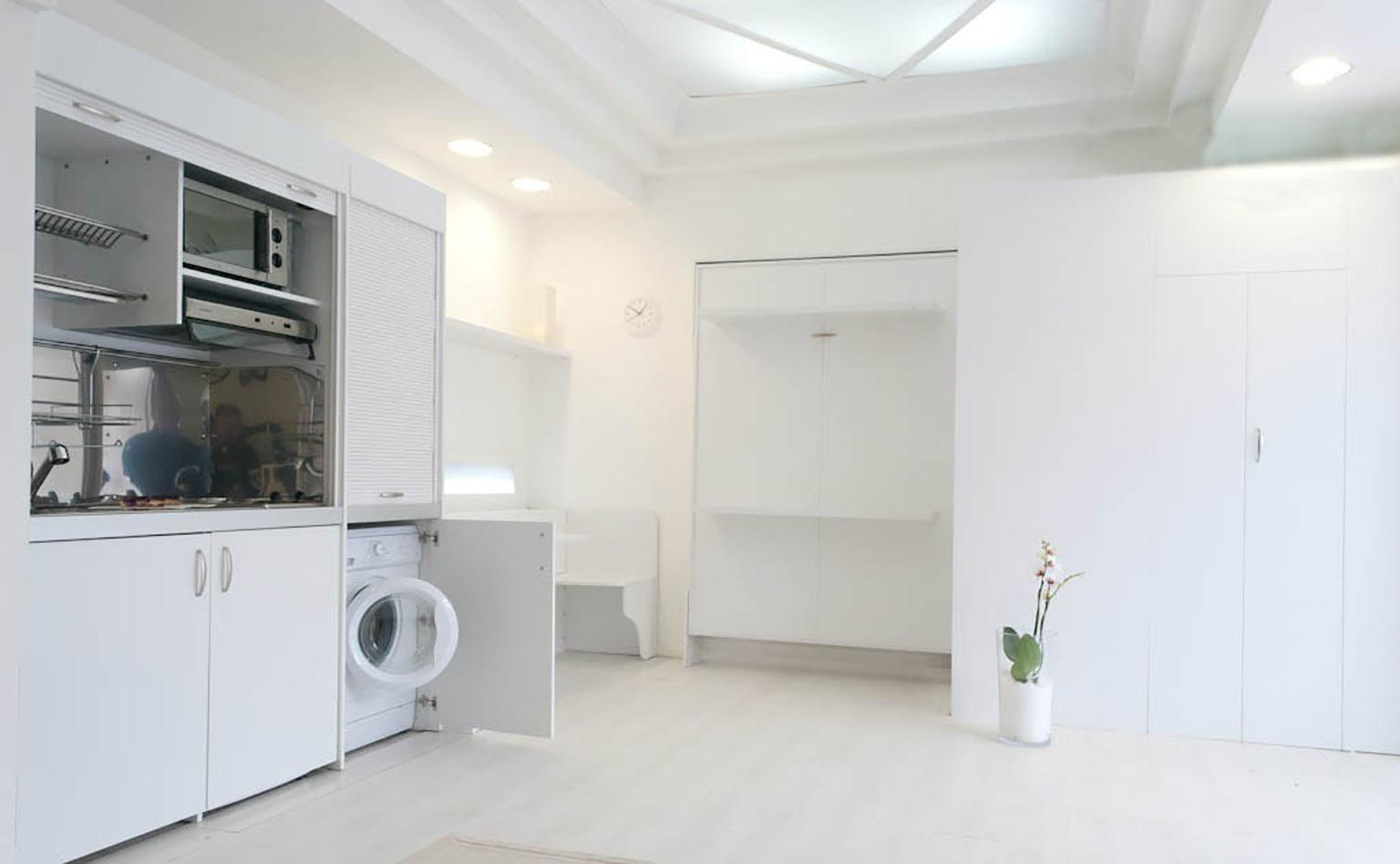 Cucina armadio letto singolo o doppio letto - Cucina doppio angolo ...