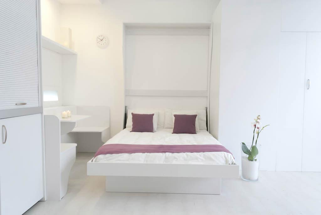 Cucina armadio letto singolo o doppio letto matrimoniale a parete vivilospazio mobili - Letto matrimoniale a parete ...
