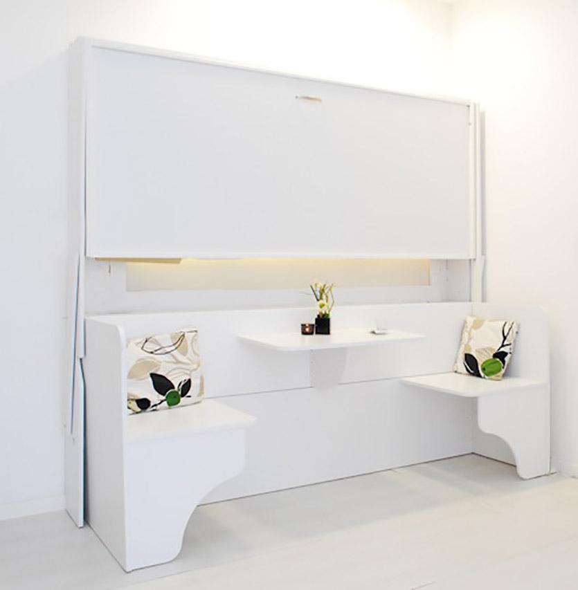 Letto soppalco letto scrivania letto matrimoniale a parete vivilospazio mobili trasformabili - Letto matrimoniale a parete ...