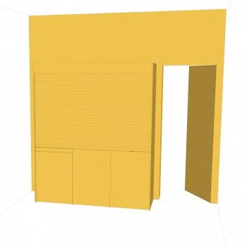 cucina armadio chiusa,  tono su tono della parete