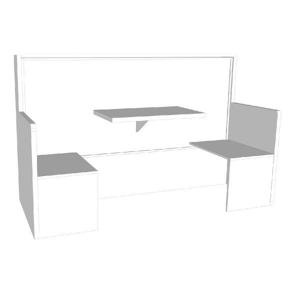 """letto a parete """"Fast AA"""": letto che diventa un tavolo con due comode sedute"""