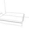 grafico Sommier alla turca senza testata, vista letto aperto