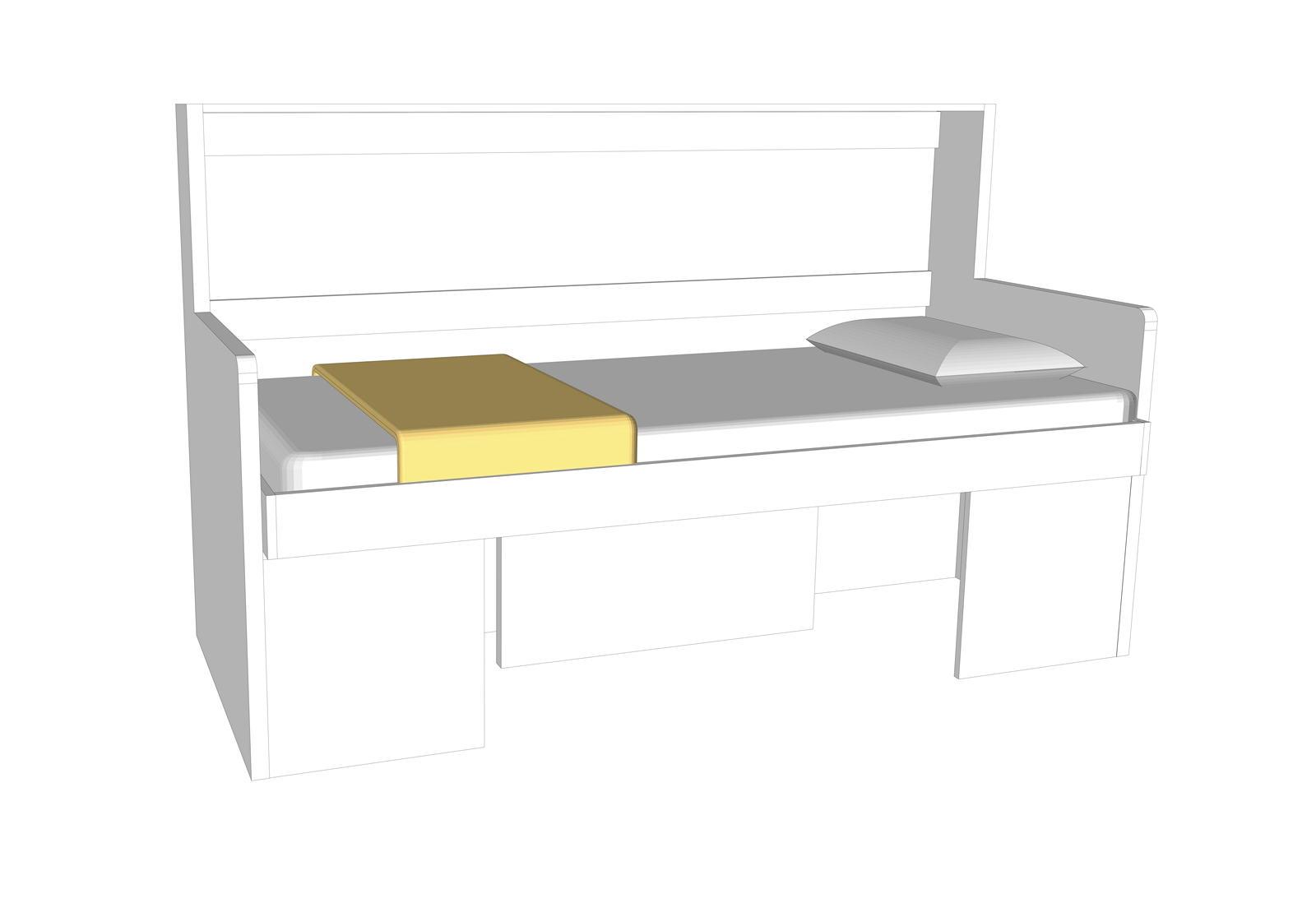 Letto a scomparsa in tavolo o scrivania fast bed aa - Letti chiudibili a parete ...