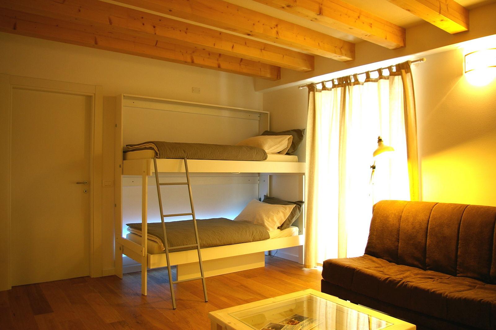 Cucina armadio 125 abbinata ai letti a parete vivilospazio mobili trasformabili - Letti richiudibili a parete ...