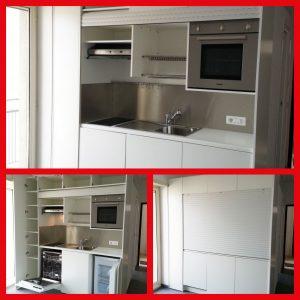 Cucina monoblocco per l 39 arredamento di case per studenti universitari vivilospazio mobili - Mobili a scomparsa per monolocali ...