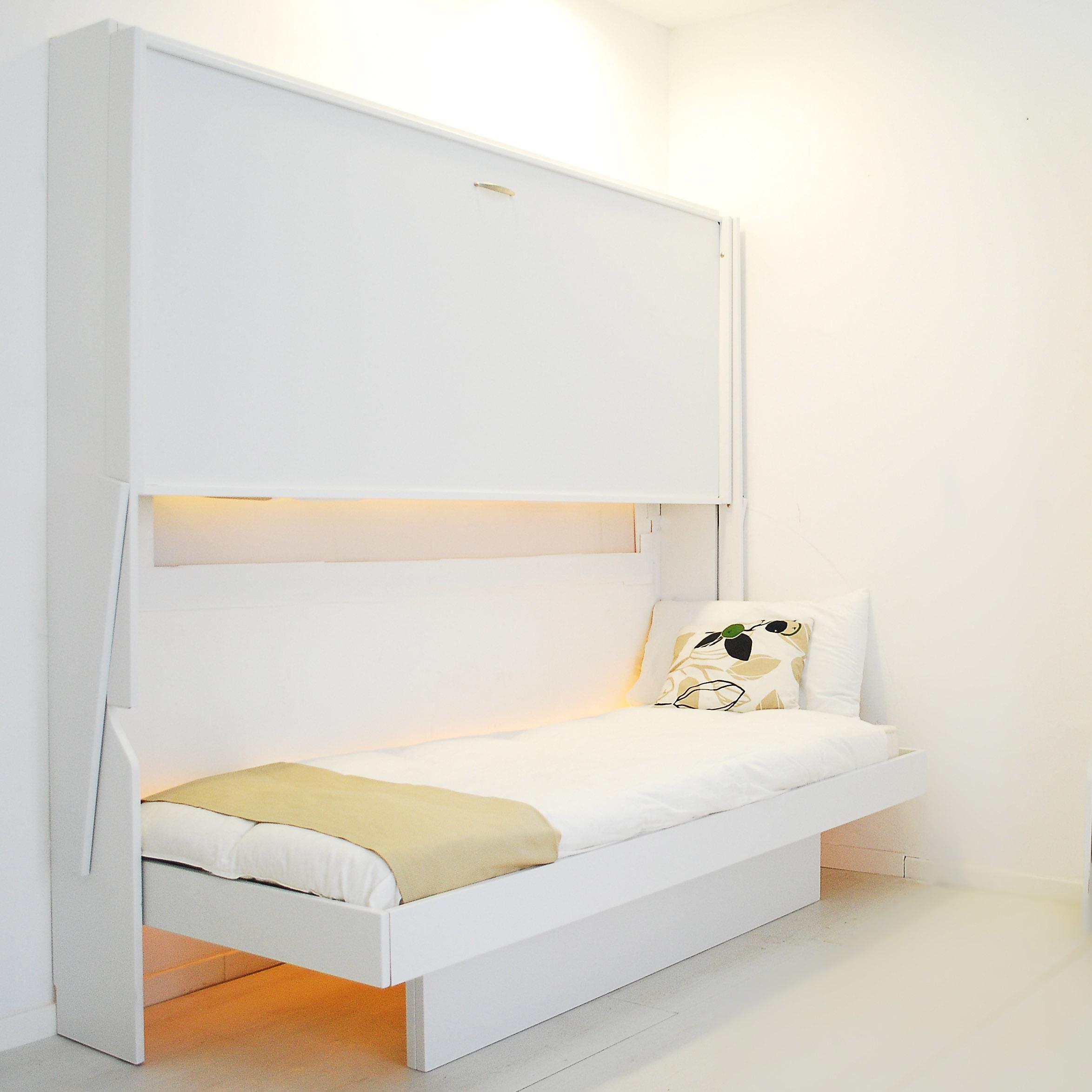 Letto a scomparsa a castello consolle doppia bed vivilospazio mobili trasformabili - Letto castello scomparsa ...