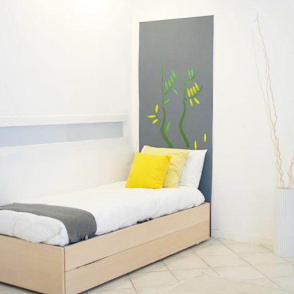 Letto singolo trasformabile in letto a castello
