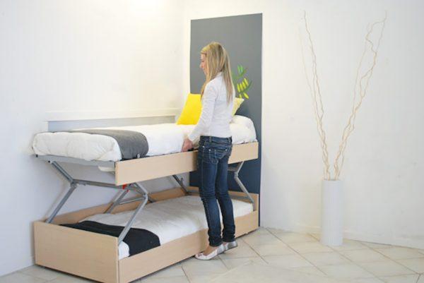 letto singolo alzabile in letto a castello