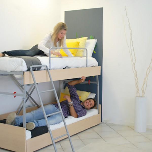 sommier trasformabile in letto a castello