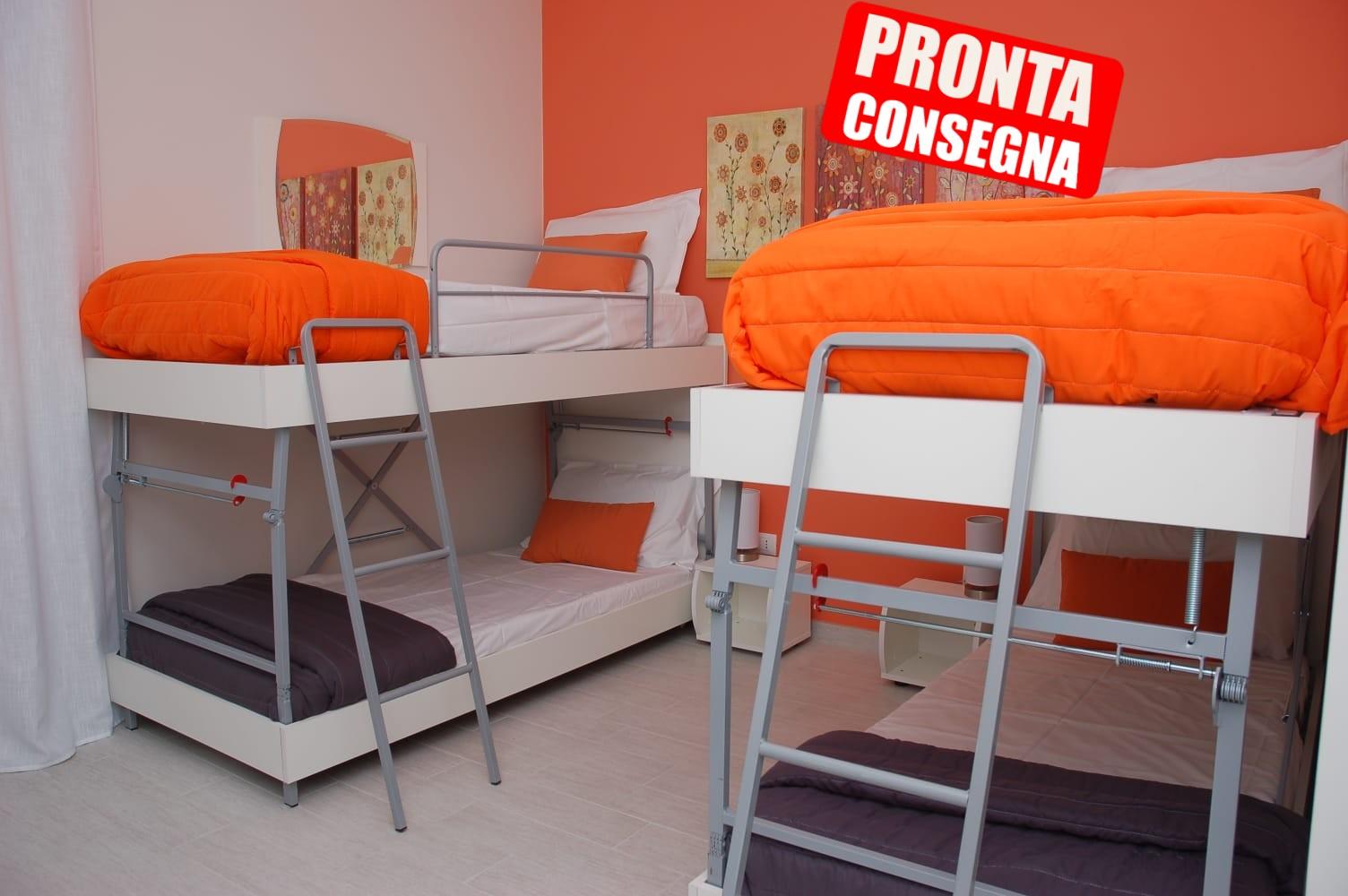 """Tre Letti A Castello Scorrevoli letto a castello matrimoniale """"intelligent system"""""""