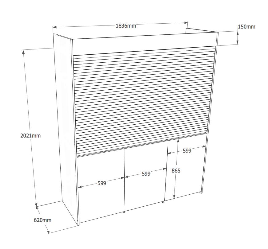 Armadio cucina compact 184 vivilospazio mobili trasformabili - Armadio cucina monoblocco ...